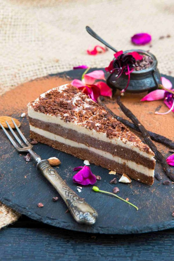 "Tort raw cioco-vanilie ""Duo"""